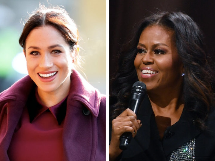 Former first lady Michelle Obama offered some words of wisdom for Meghan, the Duchess of Sussex, in an interview in
