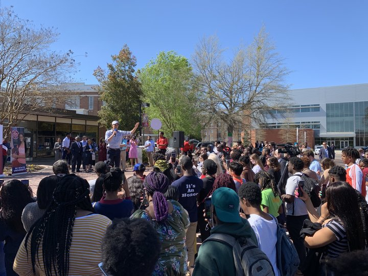 O'Rourke holds a town hall at South Carolina State University in Orangeburg.