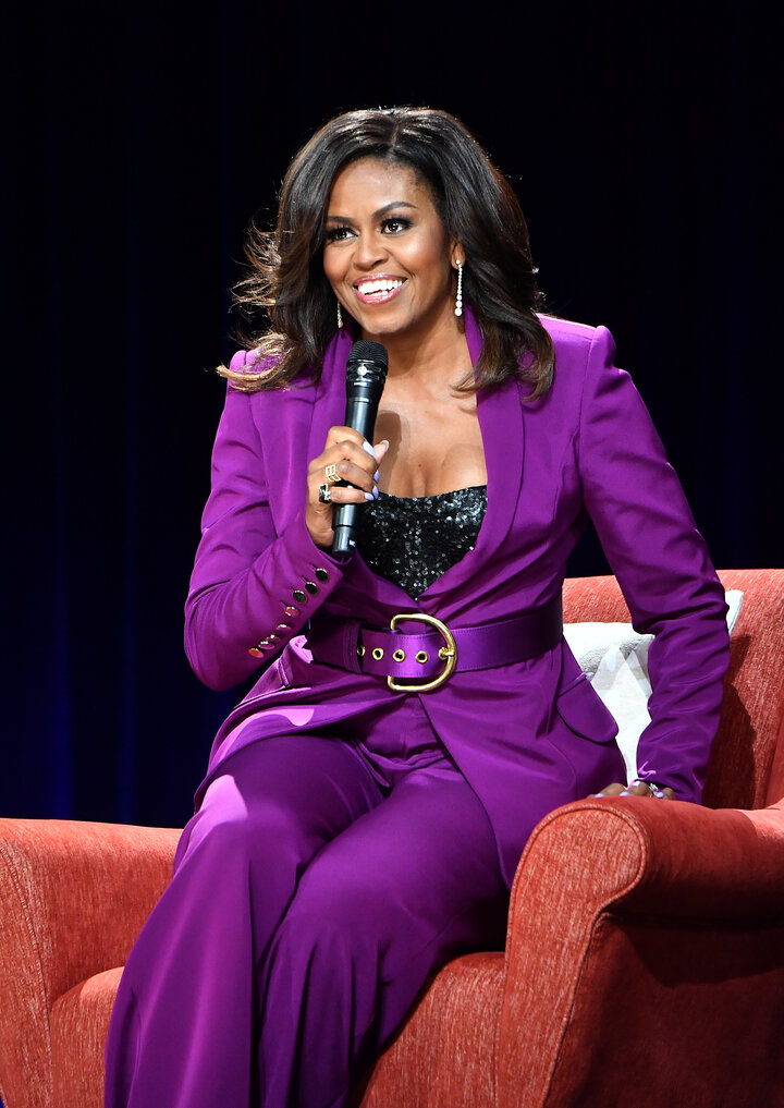 """Obama headlines a book tour stop, """"Becoming: An Intimate Conversation with Michelle Obama,"""" at the State Farm Arena on May 11"""