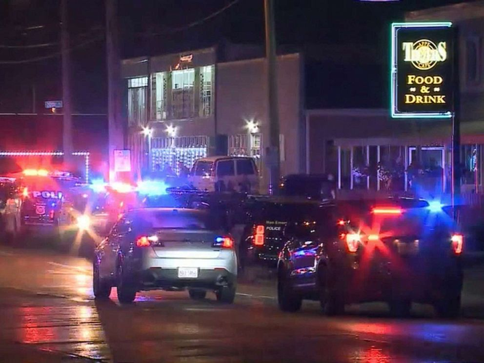 PHOTO: An off-duty police officer died after shots were fired inside a Racine, Wis. bar during an armed robbery, June 17, 2019.