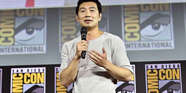 """Simu Liu of Marvel Studios' """"Shang-Chi and the Legend of the Ten Rings"""" speaks at the San Diego Comic-Con International 2019 Marvel Studios Panel in Hall H on July 20, 2019. He called his casting the """"craziest dream."""""""