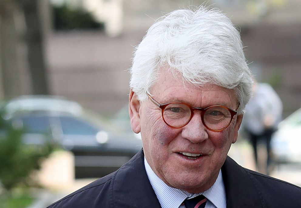 PHOTO: Greg Craig, former White House counsel under former U.S. President Barack Obama, arrives at U.S. District Court for his arraignment April 12, 2019, in Washington, DC.