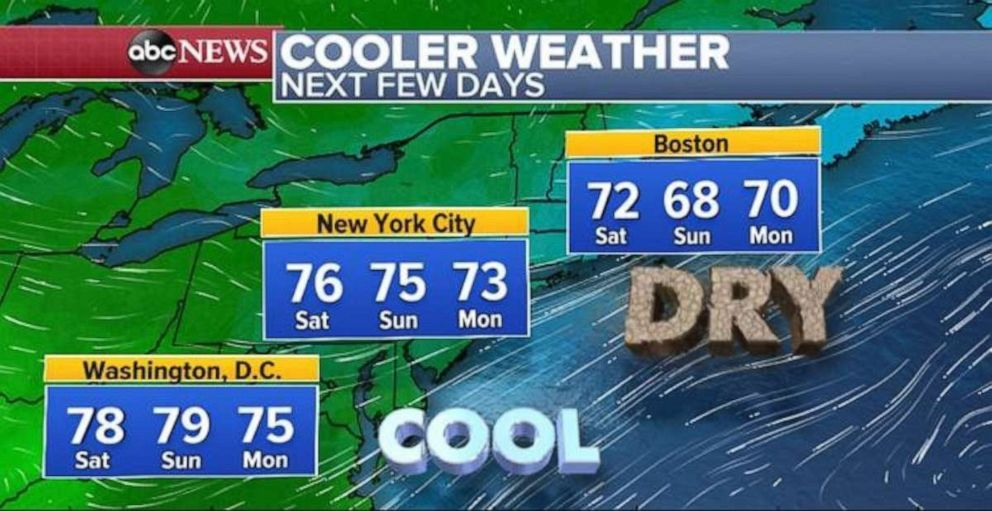 PHOTO: A taste of fall is in the offing for the Northeast over the next few days.