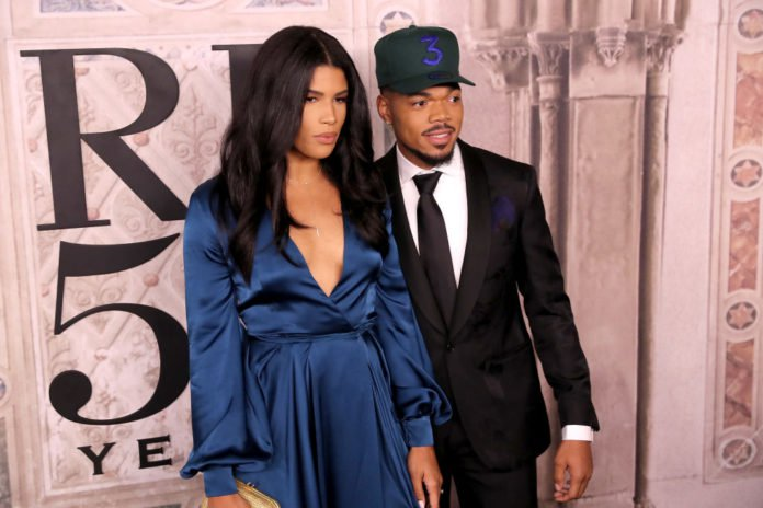 NEW YORK, NY - SEPTEMBER 07: Kirsten Corley and Chance the Rapper attend the Ralph Lauren fashion show during New York Fashion Week at Bethesda Terrace on September 7, 2018 in New York City. (Photo by Rob Kim/Getty Images)