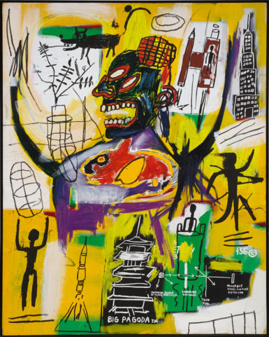 Jean-Michel Basquiat's 1984 'Pyro' sold for $1.2 million at Sotheby's London.