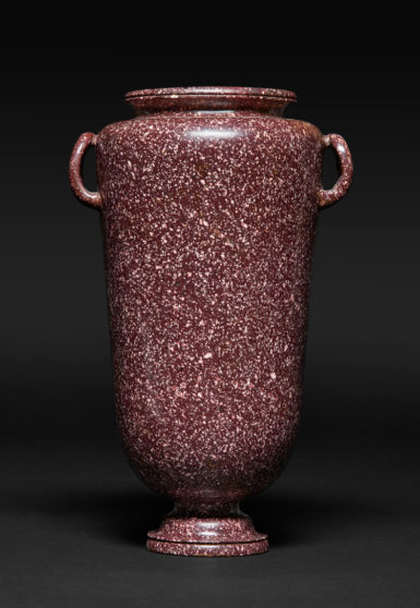 Vase with Two Handles, Roman, Imperial Period, 1st– 2nd century A.D., Egyptian red porphyry. Provenance: Ogden-Smith Family Collection, London, 1930s