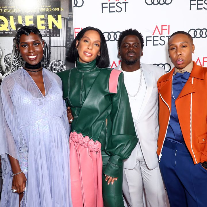 From left: Jodie Turner-Smith, Melina Matsoukas, Daniel Kaluuya and Lena Waithe attend AFI FEST 2019 on the opening night wor