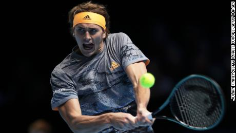 Zverev opened his ATP Finals title defense with victory over Nadal.
