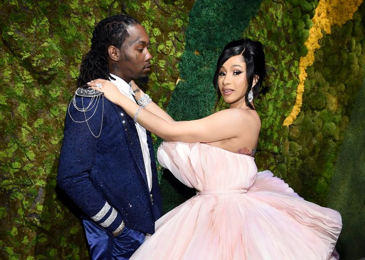 Offset and Cardi B attend Rihanna's 5th Annual Diamond Ball at Cipriani Wall Street on Sept. 12 in New York.