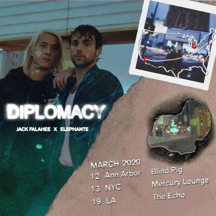 Diplomacy kick off a three-city concert tour March 12 in Ann Arbor, Michigan.