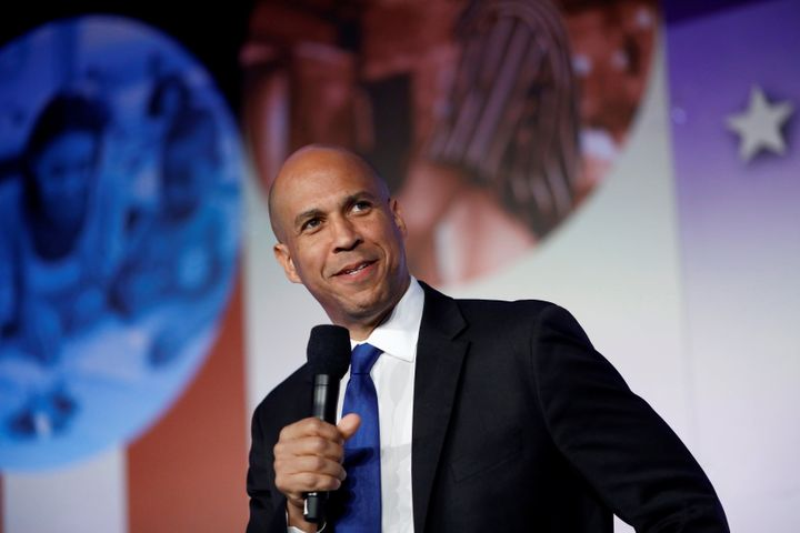 Sen. Cory Booker at the SEIU's Unions for All summit in Los Angeles in October.