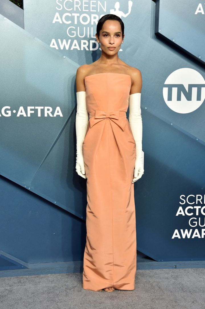 Zoe Kravitz attends the 26th annual SAG Awards at The Shrine Auditorium on Jan. 19, 2020, in Los Angeles, California.