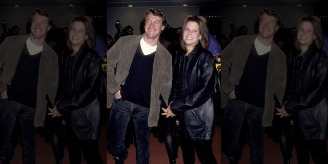 Tate Donovan and Sandra Bullock during their relationship.