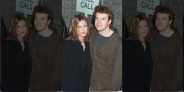 Jennifer Aniston and Tate Donovan attend a movie premiere in December 1996.